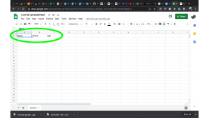 step 10: how to store data from website to google spreadsheet