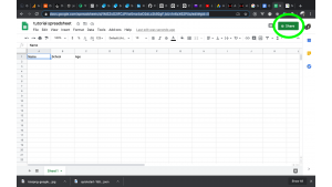 step 11: how to save data from website to google spreadsheet